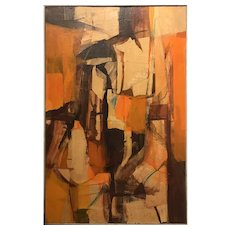 Don McIntosh Mid Century Abstract Oil Painting 1965