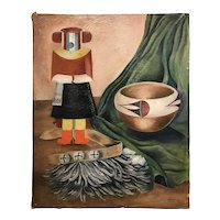 Marceille Farmer Southwest Native American Still Life Oil Painting