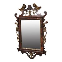 18th Century Northern European Carved Rosewood Mirror with Gilt Decoration