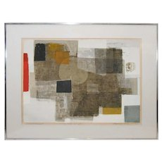 Norio Azuma Mid Century Artist's Proof Pencil Signed Abstract Color Serigraph, The Orb of Day