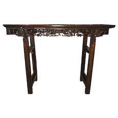 19th / 20th c Chinese Carved Rosewood Altar Table