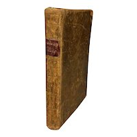 Leatherbound Book, Reflections of Death by William Dodd, 1796