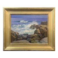 Edward Henry Potthast Marine Coastal Oil Painting, Rocks & Surf