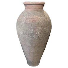 Large Terracotta Colored Composition Stone Urn or Garden Pot in the Italian Taste