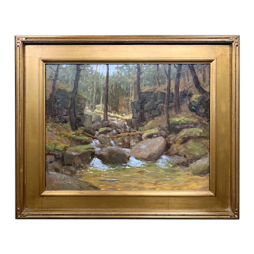 Byron Carr Woodland Landscape Oil Painting, Brook in Bear Notch