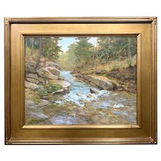 Byron Carr Mountain Landscape Oil Painting, Gale River
