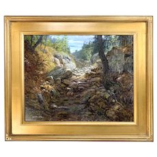 Byron Carr White Mountain Landscape Oil Painting, On the Trail, Kearsage
