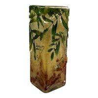Daum Nancy Art Glass Vase in Relief