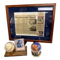 Lot of New York Mets Memorabilia Including 2 Signed Baseballs