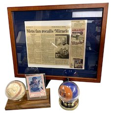 Lot of New York Mets Memorabilia Including 2 Signed Baseballs