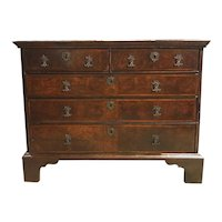 18th Century English William & Mary Walnut Chest of Drawers