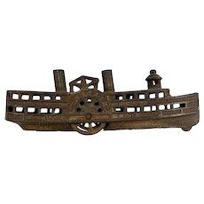 Arcade Cast Iron Steamboat Still Bank circa 1910-1925
