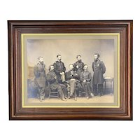 Mathew Brady Framed Civil War Photograph of General William T Sherman and Officers