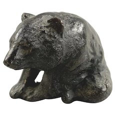 Antique or Vintage Cast Bronze Small Sculpture of Paperweight of a Bear, Unsigned