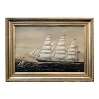 J.H. Eastaway Oil Painting Portrait of the Clipper Ship James Crosfield Liverpool 1894