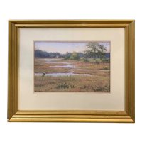 Robert Collier Landscape Pastel Painting, Summer Marsh 1997