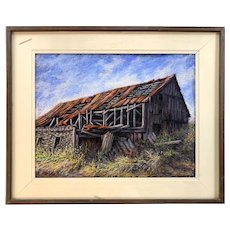 Robert Collier New Hampshire Landscape Pastel Painting, Remains I, 1987