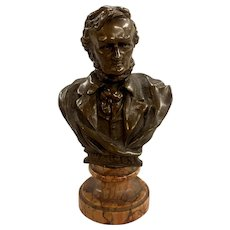 Antique Bronze Bust of Wagner by the J. Kalmar Foundry