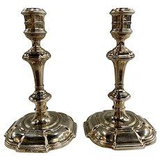 Pair of Irish Silver Candlesticks, George II Dublin, 1737 Likely John Williamson