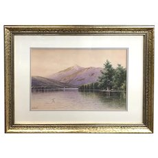 William Frederick Paskell Watercolor Painting in the NH White Mountains