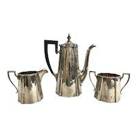 Three Piece Sterling Silver Meriden-Brittania Tea Service