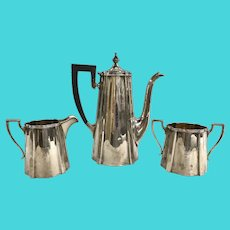 Three Piece Sterling Silver Meriden-Brittania Tea Service