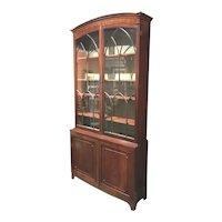 English Georgian Mahogany Two Part Bookcase or China Cabinet with Glazed Doors