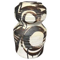 Gerry Williams Bold Art Pottery Vase in Brown Tones 1991