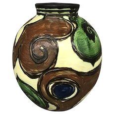 Polychrome Earthenware Vase by Jens Thirslund for Herman Kähler Keramik