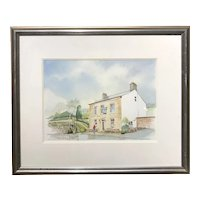 Gordon Wilkinson British Watercolor Painting, Andrews Arms, Compstall