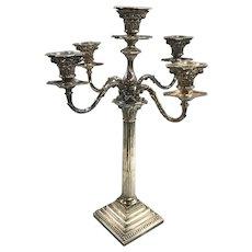 19th / 20th Century Sheffield Five-Light Candelabrum by Hawksworth, Eyre & Co
