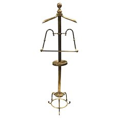 Vintage Brass Victorian Style Butler's or Valet Rack