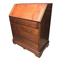 18th c Cherry Wood Queen Anne Fall Front Desk