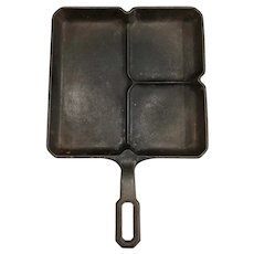 Vintage Cast Iron Griswold Colonial Breakfast Skillet 666