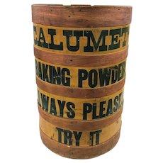 19th / 20th c Calumet Baking Powder Country Store Advertising Display Barrel
