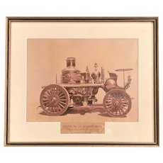 Amoskeag Steam Propelling Fire Engine No. 38, Boston MA Framed Photograph