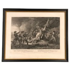 Death of General Montgomery at Quebec Engraving Print by Ketterlinus, after John Trumbull