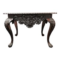 18th-19th Century Exceptionally Carved Portuguese Rococo Rosewood Center Table