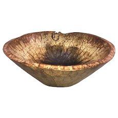 Large Chip Carved Wooden Center Bowl