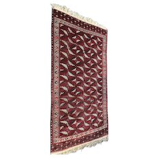 Tribal Caucasian Room Size Rug, circa 1910s