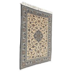 Persian Wool Rug with Floral Design, circa 1960s