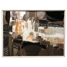 Maury Haseltine Large Mixed Media Painting, Our Life is Like a Summer's Day 1964