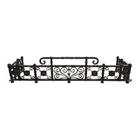 Wrought Iron Fireplace Fender in the Manner of Oscar Bach