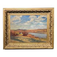 Harold Broadfield Warren Oil Painting Impressionist Landscape with Fall Colors