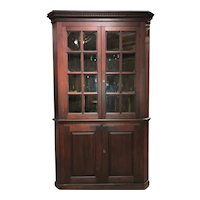 18th Century Pennsylvania Black Walnut Corner Cupboard with Family Provenance