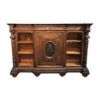 19th Century Rosewood and Ormolu Credenza with Conforming Marble Top