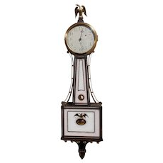 Waltham 8 Day Banjo Clock for Shreve Crump and Low, Simon Willard Patent