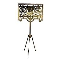 Early 20th c Neoclassical Italian Brass Adjustable Music Stand