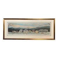 Norman Rockwell Signed Framed Print, Stockbridge Main Street at Christmas, 1978