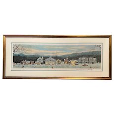 Norman Rockwell Signed Framed Print, Stockbridge Main Street at Christmas, 1978
